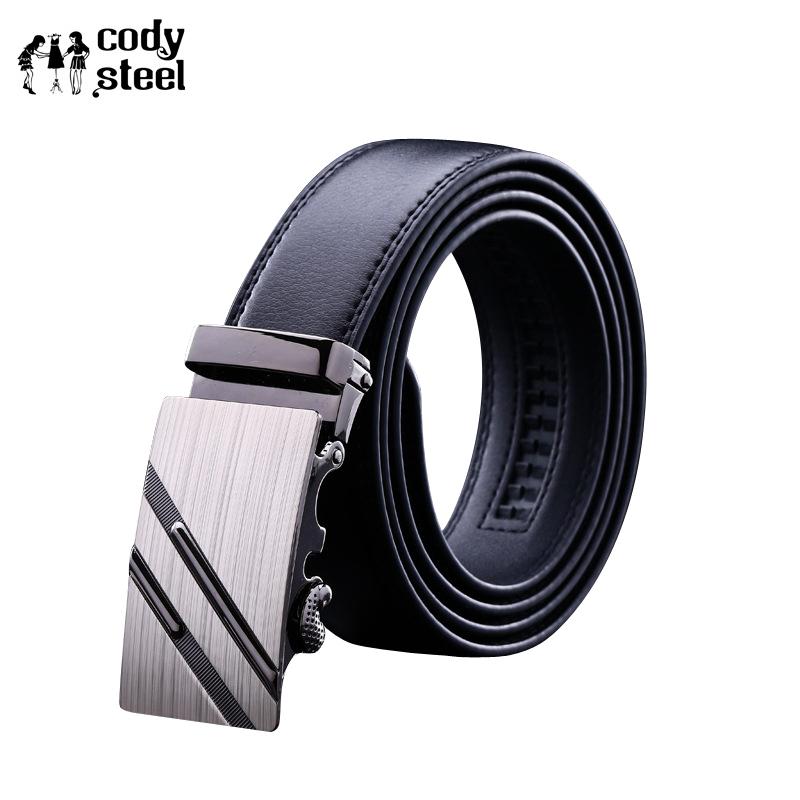 [해외]코디 철강 PU 가죽 남성 벨트 자동 버클 패션 벨트 남성 비즈니스 인기 남성 브랜드 블랙 벨트 럭셔리/Cody Steel PU Leather Mens Belts Automatic Buckle Fashion Belts For Men Business Popular