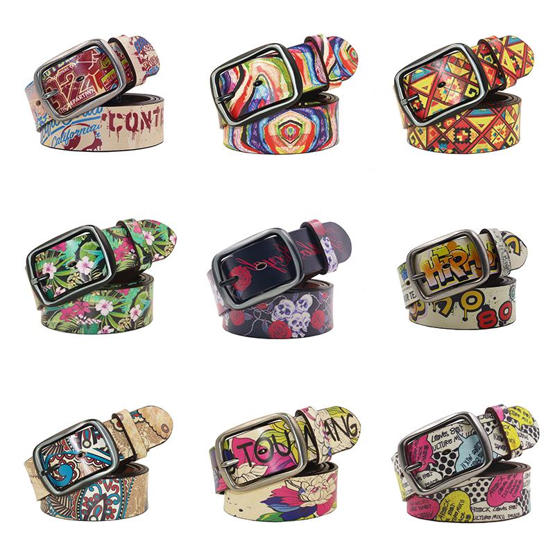[해외]LAUWOO Women Belt Luxury Brand 남성용  가죽 벨트 패션 벨트 레트로 유니 캐주얼 청바지 벨트/LAUWOO Women Belt Luxury Brand Genuine leather belt for men fashion Printing bel