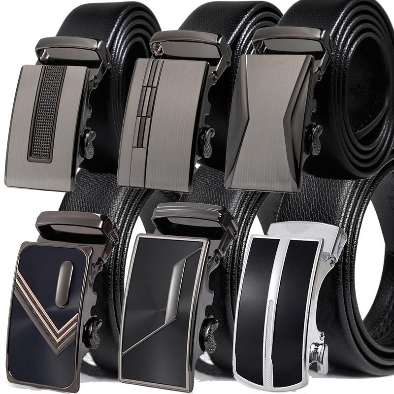 [해외]새로운 브랜드 벨트 남성 Cowskin  럭셔리 가죽 남성 & 남성 벨트 남성 금속 자동 버클/New Brand Belt Men  Cowskin Genuine Luxury Leather Men&s Belts for Men Male Metal Automat