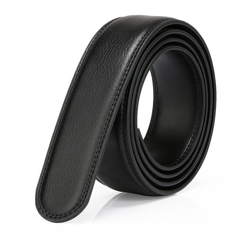 [해외]LannyQveen No 버클 벨트 3cm 색상 블랙 벨트  벨트 가죽 벨트 남성 벨트 스트랩/LannyQveen No Buckle belt 3cm Black color Genuine Leather Automatic Belts Strap Men ribbon be