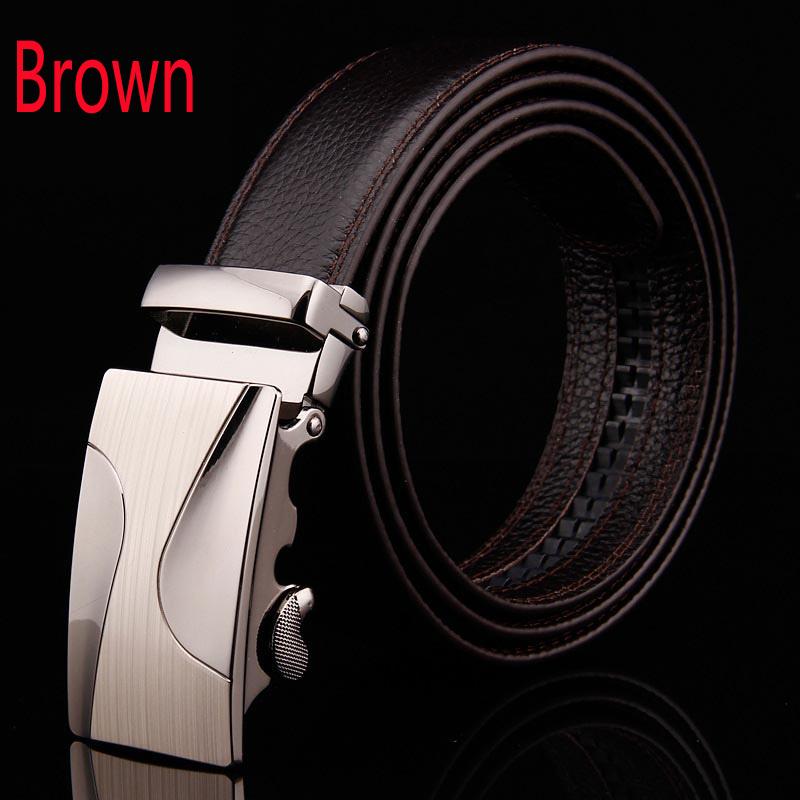 [해외]새로운 유명한 브랜드 디자이너 검정과 갈색 벨트 남성  가죽 스트랩 자동 버클 벨트 Ceinture 옴므/New Famous Brand Designer Black And Brown Belt   Male Genuine Leather Strap Automatic B