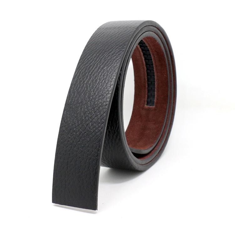 [해외]새로운 백퍼센트 카우 스킨 가죽 벨트 버클 없음 자동 버클 스트랩 디자이너 벨트가없는 실제 진짜 가죽 벨트 3.5cm/New 100% Cowskin Leather Belt  No Buckle 3.5cm Wide Real Genuine Leather Belt Wi