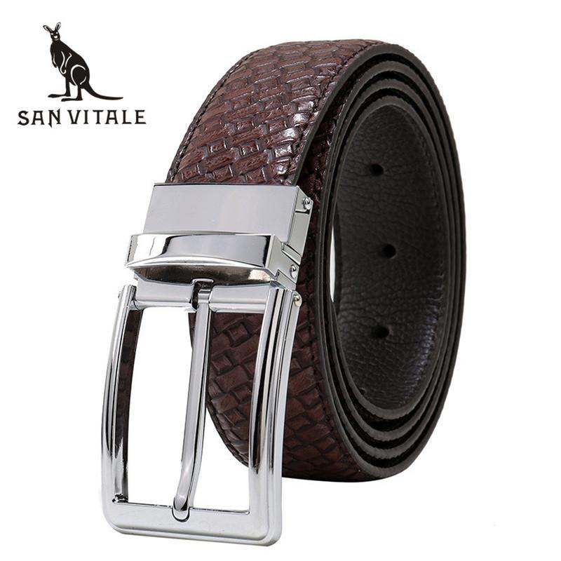[해외]벨트 남성 벨트  가죽 청바지 거들 패션 2018 뉴 Cowskin 뒤집을 디자이너 캐주얼 의류 허리/Belts Men Belt Genuine Leather For Jeans Girdle Fashion 2018 New Cowskin  Reversible Desi