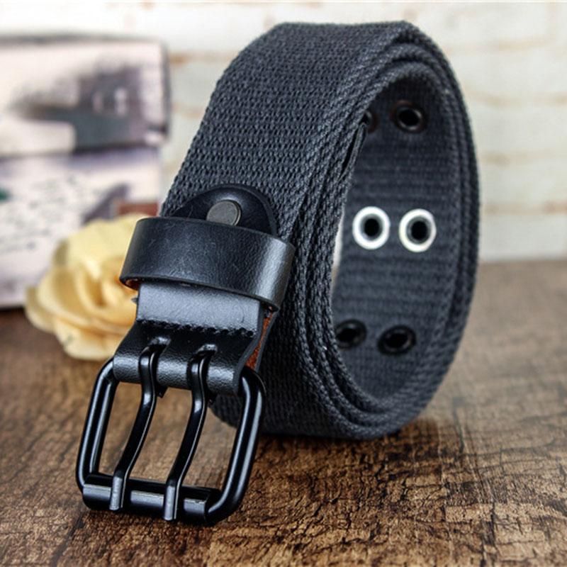 [해외]뜨거운 남자 여자 2 핀 버클 육군 전술적 벨트 밀리터리 캔버스 벨트 두꺼운 나일론 벨트 솔리드 허리띠 밴드 와이드 스트랩/Hot Man Women 2 Pin Buckle Army Tactical Belt Military Canvas Belt Thicker Ny