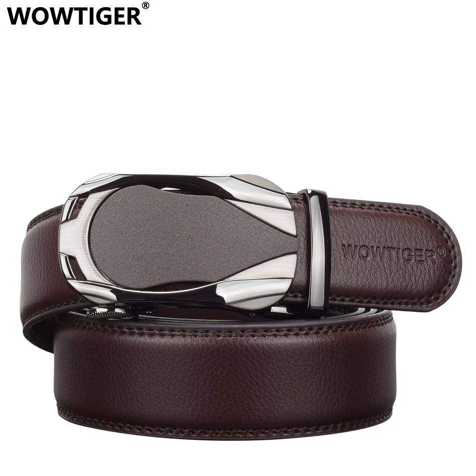 [해외]WOWTIGER 고급 가죽 남성 벨트 남성 자동 합금 버클 스트랩 벨트 남성용 가죽 벨트/WOWTIGER Luxury designers leather mens belt male automatic alloy buckle strap Belts for men cint