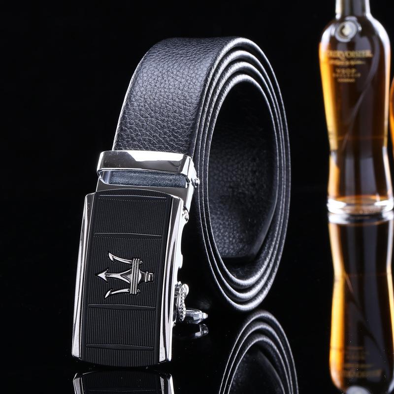 [해외]2017 남자 벨트  가죽과 pu 고품질 패션 디자이너 럭셔리 블랙 브랜드 스트랩 메탈 리카 자동 버클 / mlb083/2017 men belts genuine leather and pu high quality fashion designer luxury blac