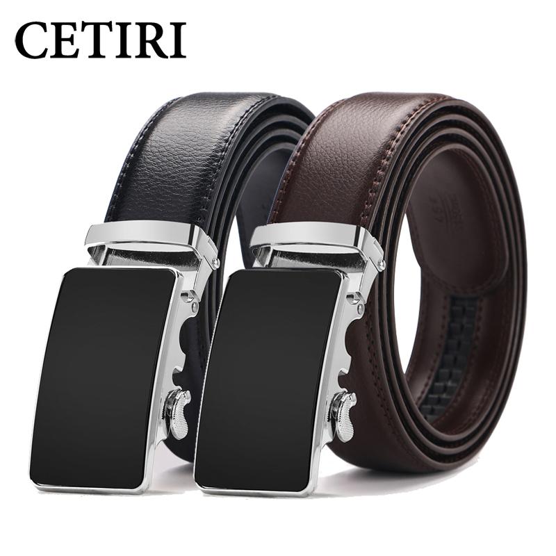 [해외]CETIRI 남자 디자이너 암소  ??가죽 벨트 남성 버클을 슬라이딩 자동 버클 래칫 럭셔리 벨트 140cm ceinture 옴므/CETIRI men designer cow genuine leather belts for men father sliding auto