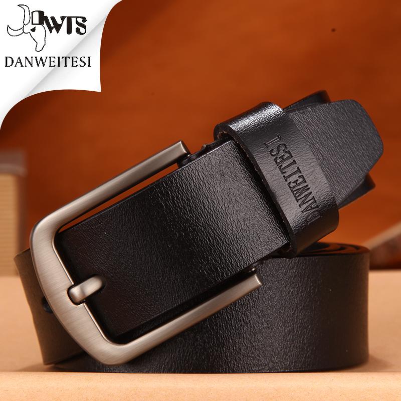 [해외][DWTS] 빈티지 가죽 벨트 남성 벨트 버클 남성 핀 스트랩 가죽 벨트 100cm - 125cm/[DWTS] cowhide genuine leather belts for men brand Strap male pin buckle vintage jeans belt