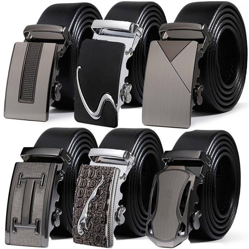 [해외]최고 품질 남성 & s 벨트  가죽 비즈니스 스트랩 남자 벨트 남자에 대 한 패션 빈티지 자동 버클 청바지에 대 한/Top quality Men&s Belt Genuine Leather Business Strap Male Belts For Men Fash