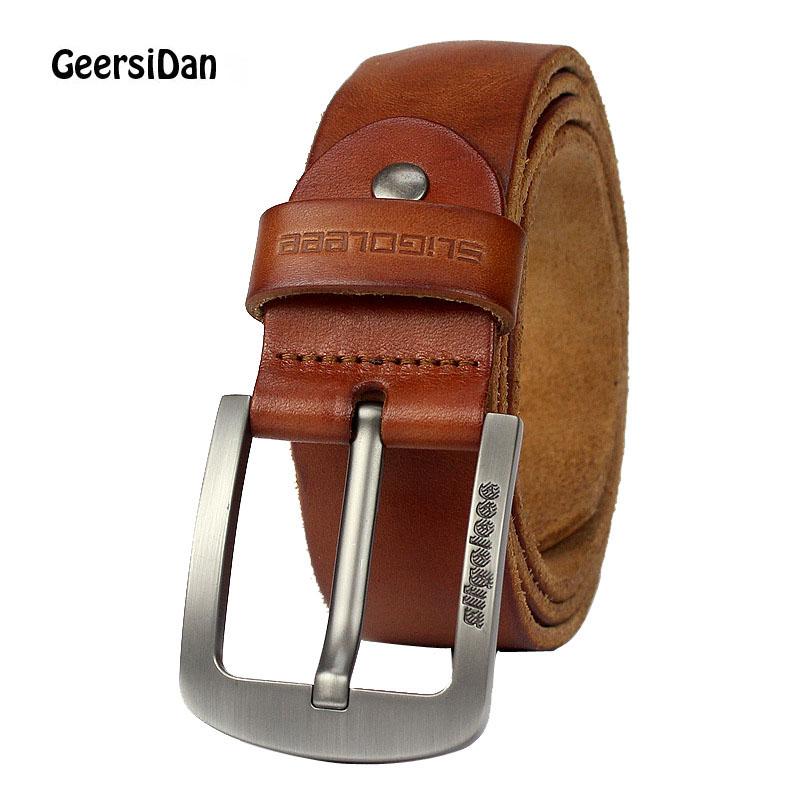 [해외]GEERSIDAN 남성용 클래식 벨트 빈티지 벨트 버클 2018 신사용 남성용 벨트 고급 가죽 스트랩 고급 가죽 벨트 암소/GEERSIDAN 2018 men belt cow genuine leather luxury strap male belt for men ne