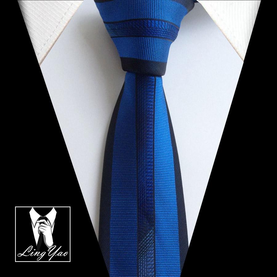 [해외]Lingyao 새로운 럭셔리 망 넥타이 최고 품질 짠 수제 넥타이 로얄 BlueBlack 테두리 줄무늬/Lingyao NEW Luxury Mens Tie Top Quality Woven Handmade Necktie Royal BlueBlack Border St