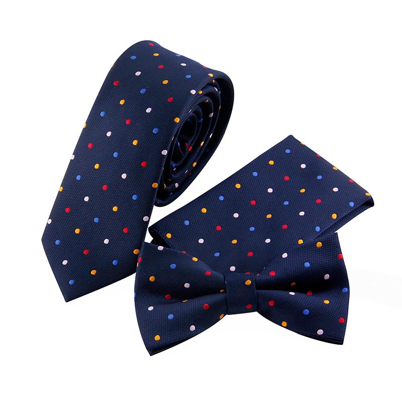 [해외]Mantieqingway 점 패턴 넥타이 Bowtie Handckerchiefs 남자 & 격자 무늬 스키니 넥타이 Gravatas Vestidos Pocket Square Cravat/Mantieqingway Dots Pattern Ties Bowtie