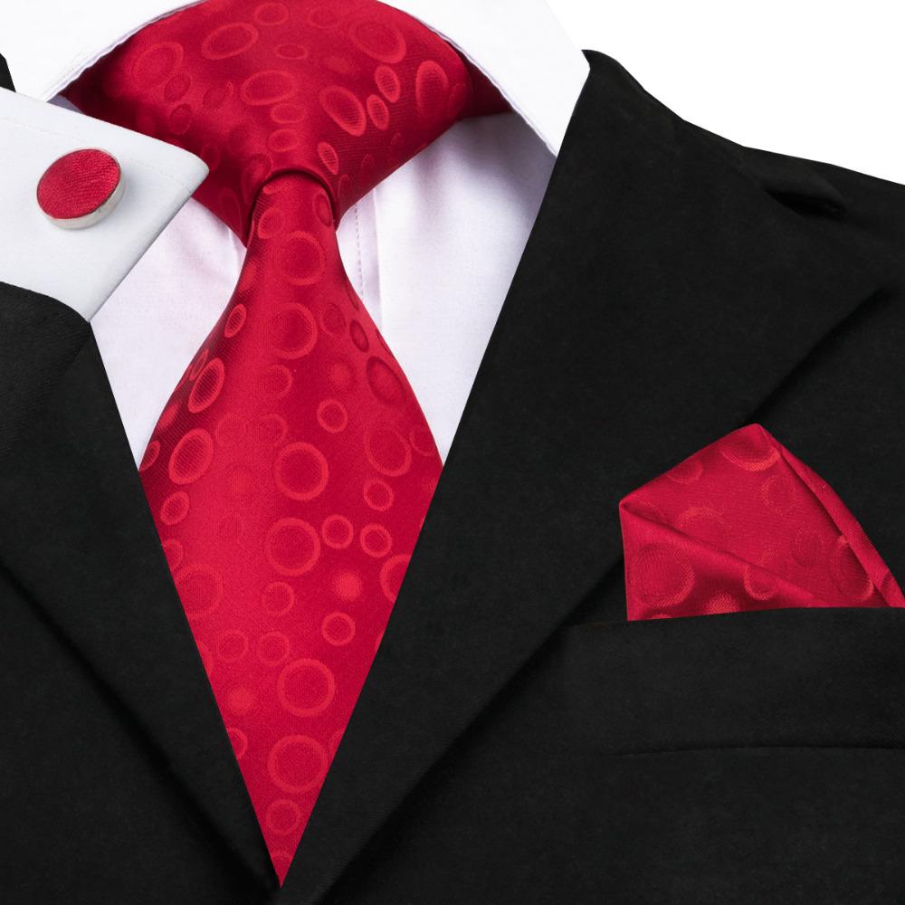 [해외]SN-1415 남성을브랜드 하이 - 넥타이 2016 넥타이 레드 실크 넥타이 포켓 스퀘어 커프스 단추 패션 남성 TiesBubble Jacquard Cravate/SN-1415 Brand Hi-tie 2016 Neck Ties For Men Red Silk Ti