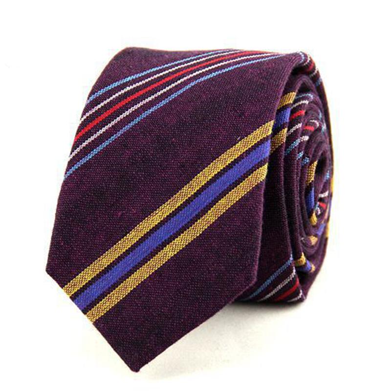 [해외]?남성용 Mantieqingway 브랜드 관계 남성용 스트라이프 넥타이 사무용 넥타이 면화 6 cm 스키니 그라비타 웨딩 코바 타스 파티 선물/ Mantieqingway Brand Ties for Men Striped Neckties Office Neck Tie
