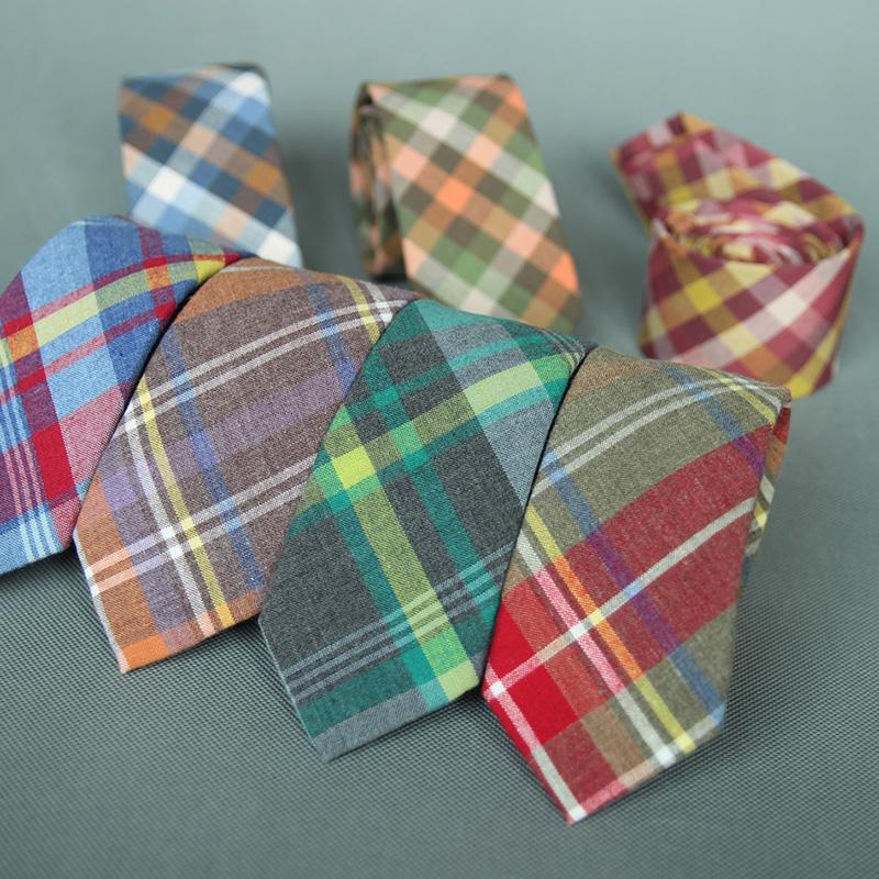 [해외]Mantieqingway 남자 패션에 대 한 유행 넥타이 6CM 스키니 코 튼 넥 넥타이 비즈니스 격자 무늬 넥타이 신선한 다채로운 Neckwear 선물/Mantieqingway Fashion Ties for Men Wedding 6CM Skinny Cotton