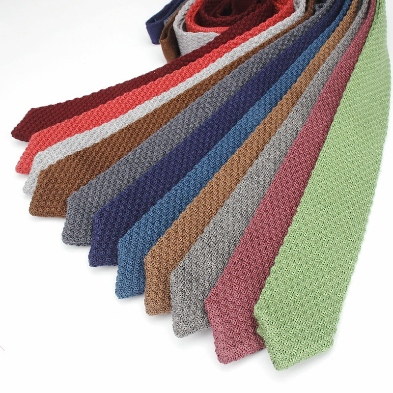 [해외]?남자 & s 넥타이 빈티지 클래식 블랙 블루 솔리드 컬러 6cm 스키 니 니트 넥타이 좁은 슬림 뜨개질 넥타이/ Men&s Knit Tie Vintage Classical Black Blue Solid Color 6CM Skinny Knitted Nec