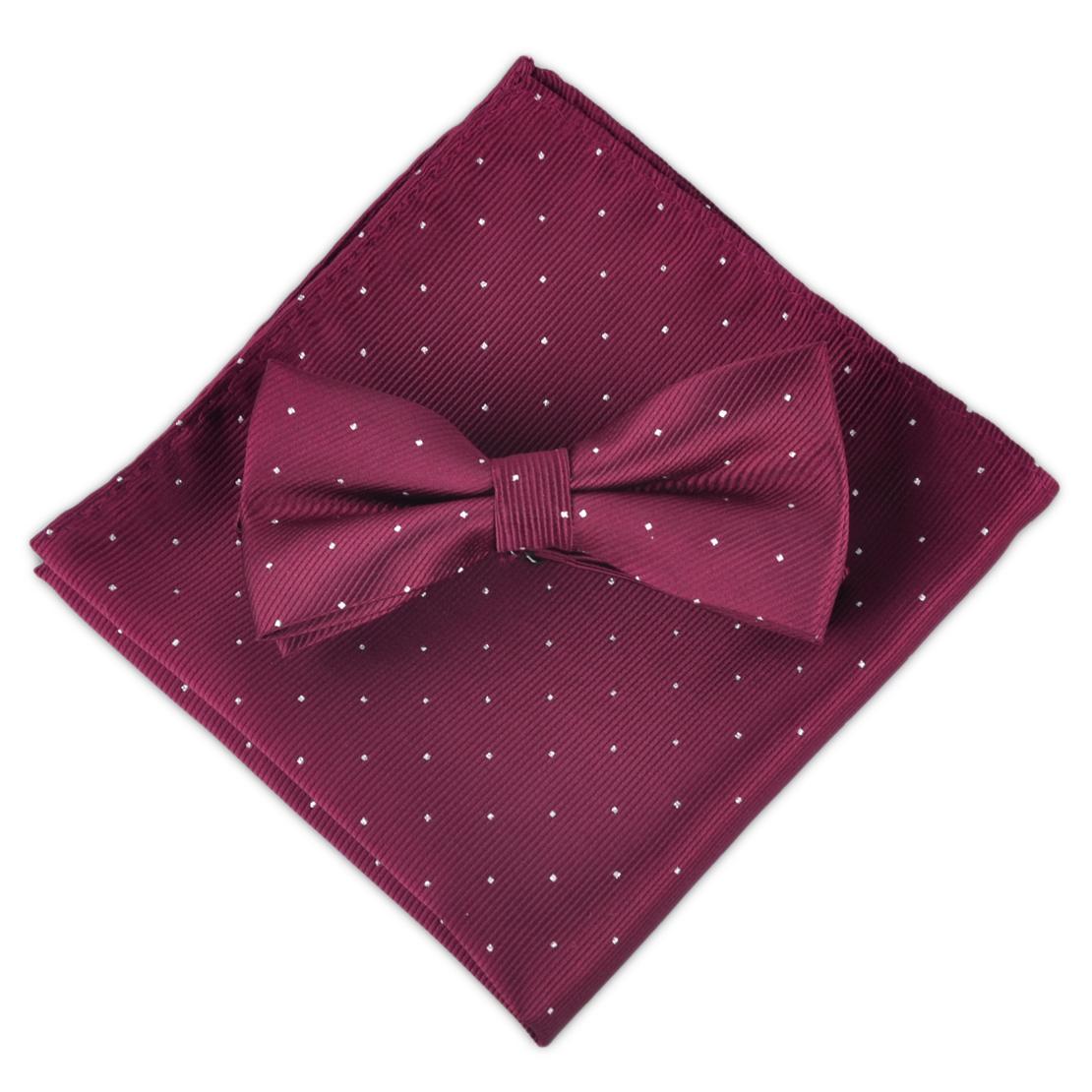[해외]ciciTree 남자 폴카 도트 나비 나비 넥타이 + 포켓 스퀘어 키트, 조정 가능한 나비 넥타이 결혼식 파티를턱시도 넥타이 손수건/ciciTree Men Polka Dot Butterfly Bowtie + Pocket Square kit, Adjustable