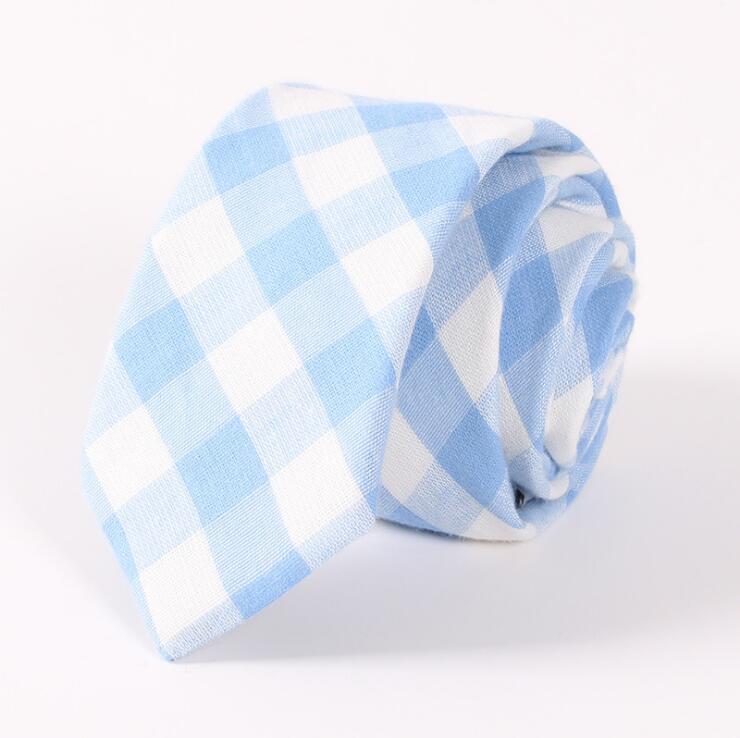 [해외]RBOCOTT 6.5 cm 코 튼 넥타이 블루 패션 격자 무늬 넥타이 그린 스트라이프 넥타이 캐주얼 슬림 타이 레드 스키니 넥타이/RBOCOTT 6.5 cm Cotton Tie Blue Fashion Plaid Tie Green Striped Necktie Ca