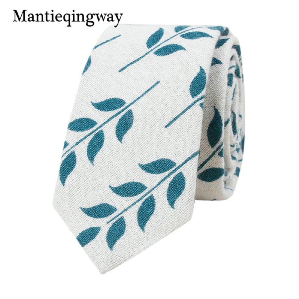 [해외]Mantieqingway 플로랄 프린트 넥타이 코튼 린넨 넥타이 남성용 꽃 잎 결혼식 남성 정장 스키니 넥타이 Gravats Corbatas/Mantieqingway Floral Print Necktie Cotton Linen Tie For Men Flowers