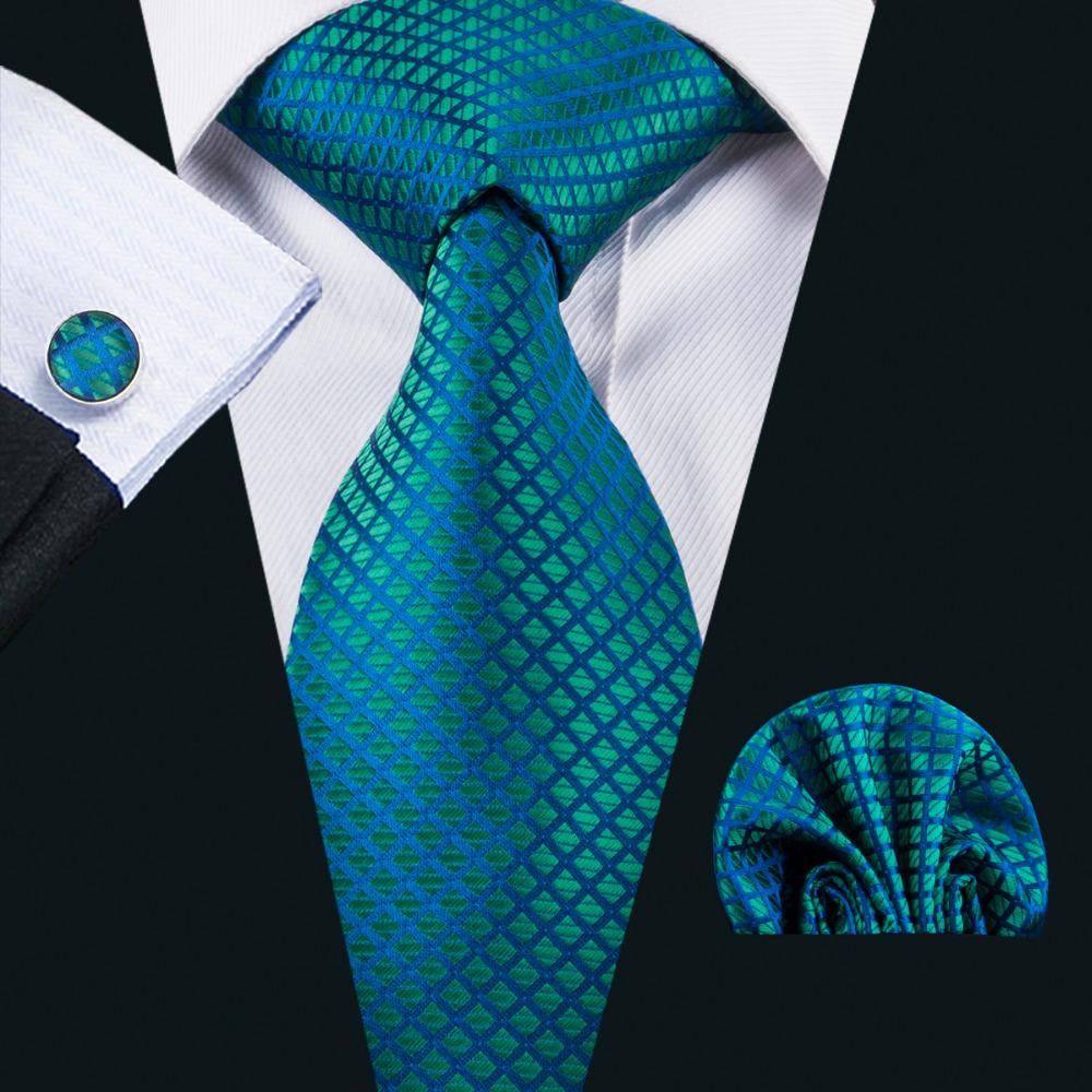 [해외]LS-1610 Barry.Wang 2017 년 남자의 넥타이 백퍼센트 실크 자카드 직물 넥타이 한 키 커프스 링크 정장 웨딩 비즈니스 파티에 대한 설정/LS-1610 Barry.Wang 2017 Men`s Tie 100% Silk Jacquard Woven Ne