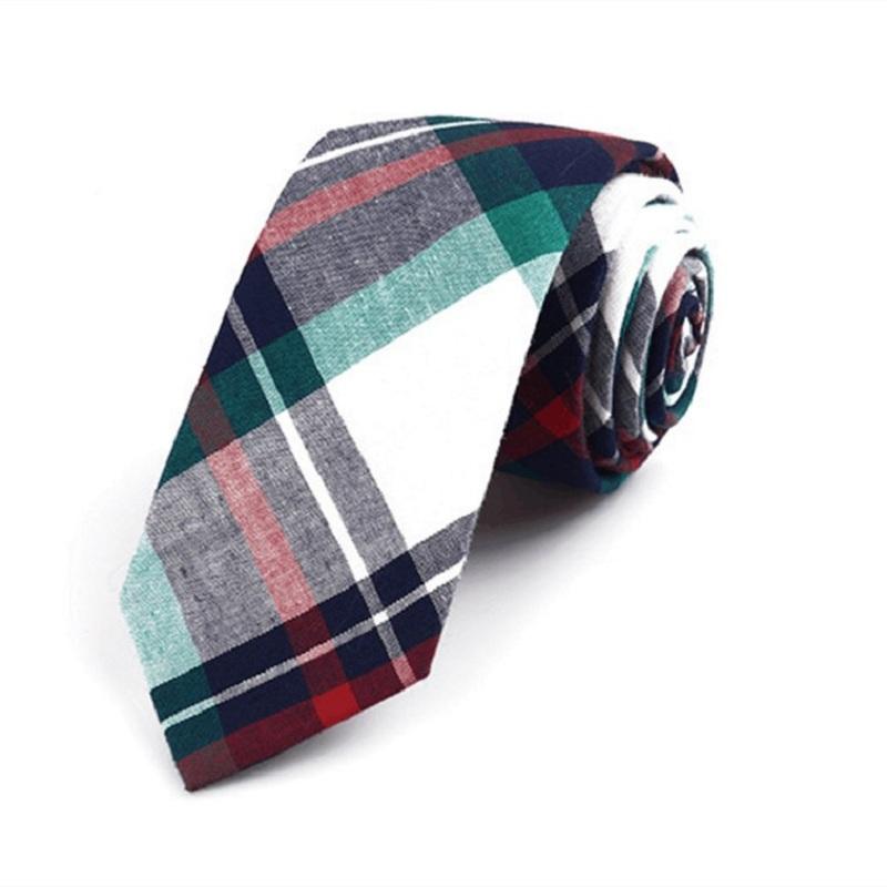 [해외]코튼 격자 무늬 넥타이 남성 넥타이 슬림 넥타이 웨딩 비즈니스 넥타이 Mariage Gravata Cravat/Cotton Plaid Narrow Neck Tie Slim Ties for Men Wedding Business Necktie Mariage Grav