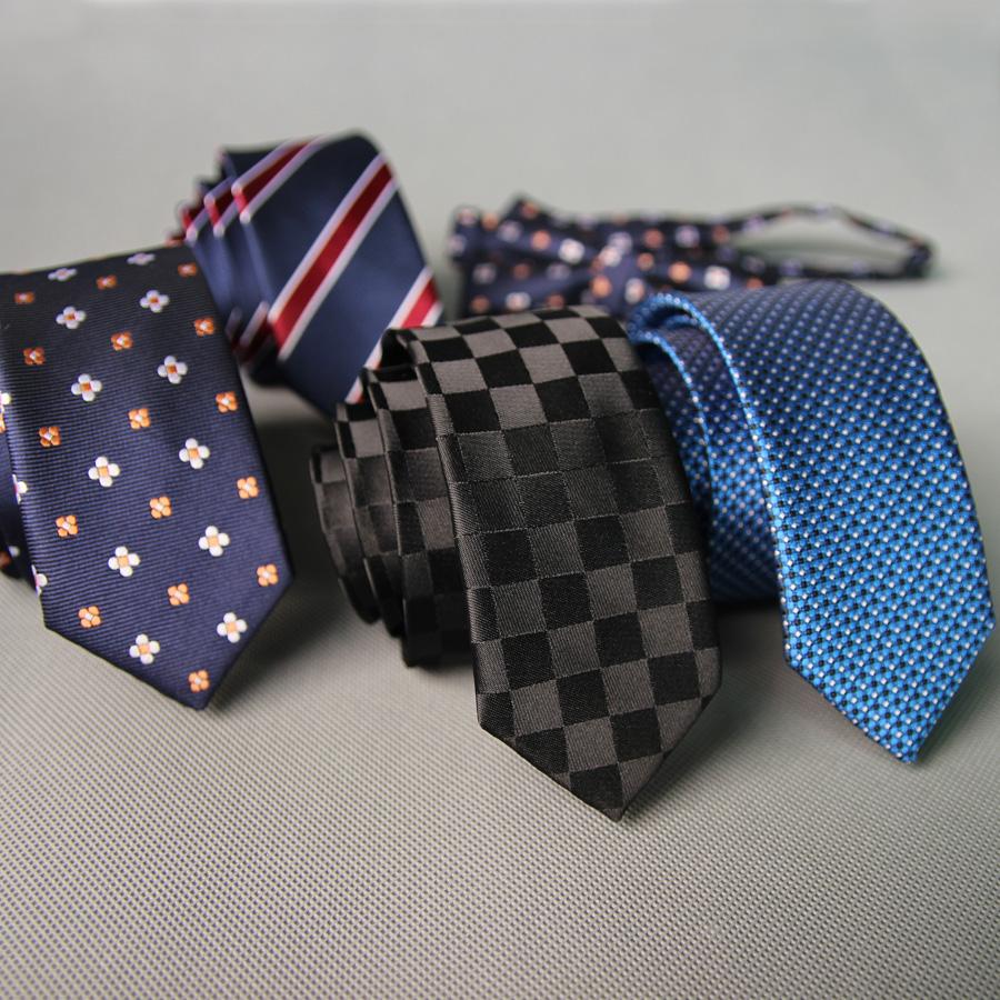 [해외]공장 5CM 클래식 남성 & 스키 니 관계 폴리 에스터 실크 단색 폴카 도트 좁은 자카드 직물 슬림 Neckwear에 대한 Groomsman 넥타이/Factory 5CM Classic Men&s Skinny Ties Polyester Silk Solid