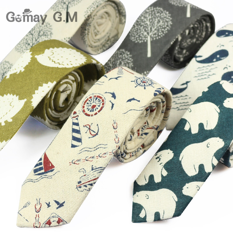 [해외]새 디자이너 프린트 넥타이 캐주얼 좁은 넥타이 넥타이 남성용 힙합 파티 꽃 무늬 코튼 스키니 넥타이 넥타이/New Designer Print Ties Casual Narrow Necktie Ties for Men Hip-hop Party Floral Cotton