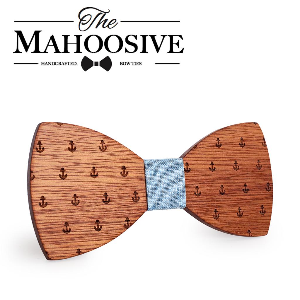 [해외]MAHOOSIVE 클래식 캡틴 우드 보우 넥타이 나무 나비 보우 넥츠 Gravatas Cravat/MAHOOSIVE Classic Captain Wood Bow Ties Wooden Butterfly Bowknots Gravatas Cravat