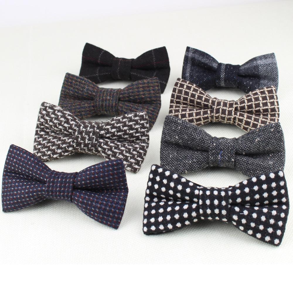 [해외]클래식 클래식 포멀 100 % 울 바지 넥타이 Gravata Colors Houndstooth Pattern 넥타이 맨즈 넥타이 트위드 보우디 No.21-28/Superior Classical Formal 100% Wool Bow Tie Gravata Color