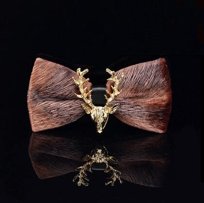 [해외]세련된 황금 사슴 나비 넥타이 결혼식을패션 사랑스러운 성격 나비 남자의 bowties/Stylish Golden Deer Bow Tie Fashion Lovely  Personality Butterfly Men Bowties For Wedding