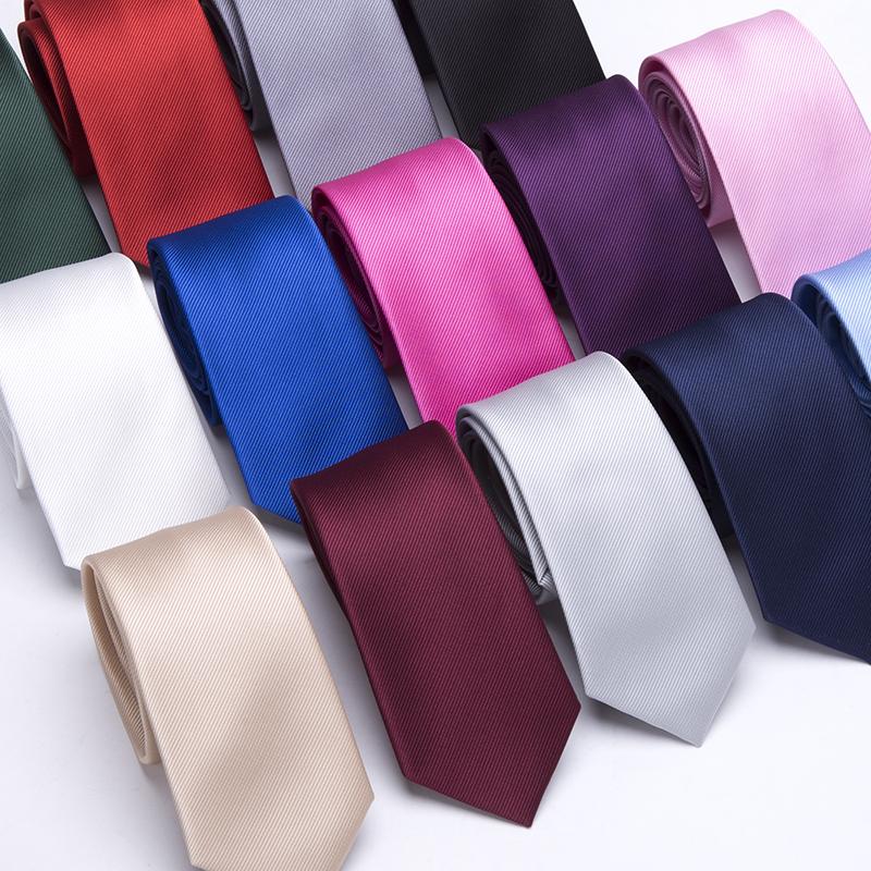 [해외]남성 넥타이 솔리드 컬러 6CM 슬림 넥타이 넥타이 남성 & 비즈니스 비즈니스 웨딩 BowTie 남성 Legame 선물 Gravata England JACQUARD WOVEN/Men Ties Solid Color 6CM Slim tie Necktie Me