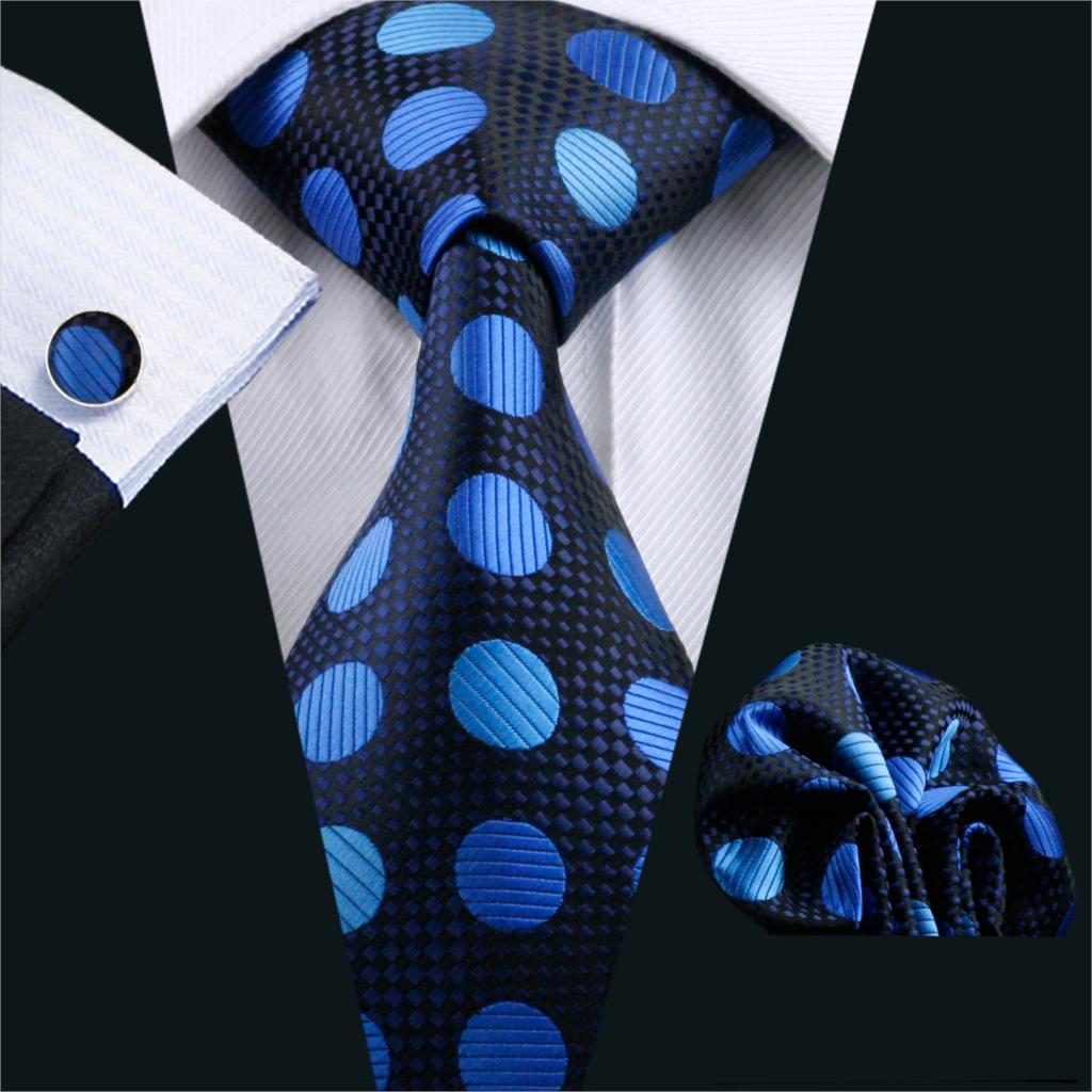 [해외]FA-796 2016 남성 넥타이 폴카 도트 실크 클래식 자카드 직물 넥타이 행 커 커프스 링크 남성용 비즈니스 웨딩 파티/FA-796 2016 Men`s Tie Polka Dot Silk Classic Jacquard Woven Tie Hanky Cufflin