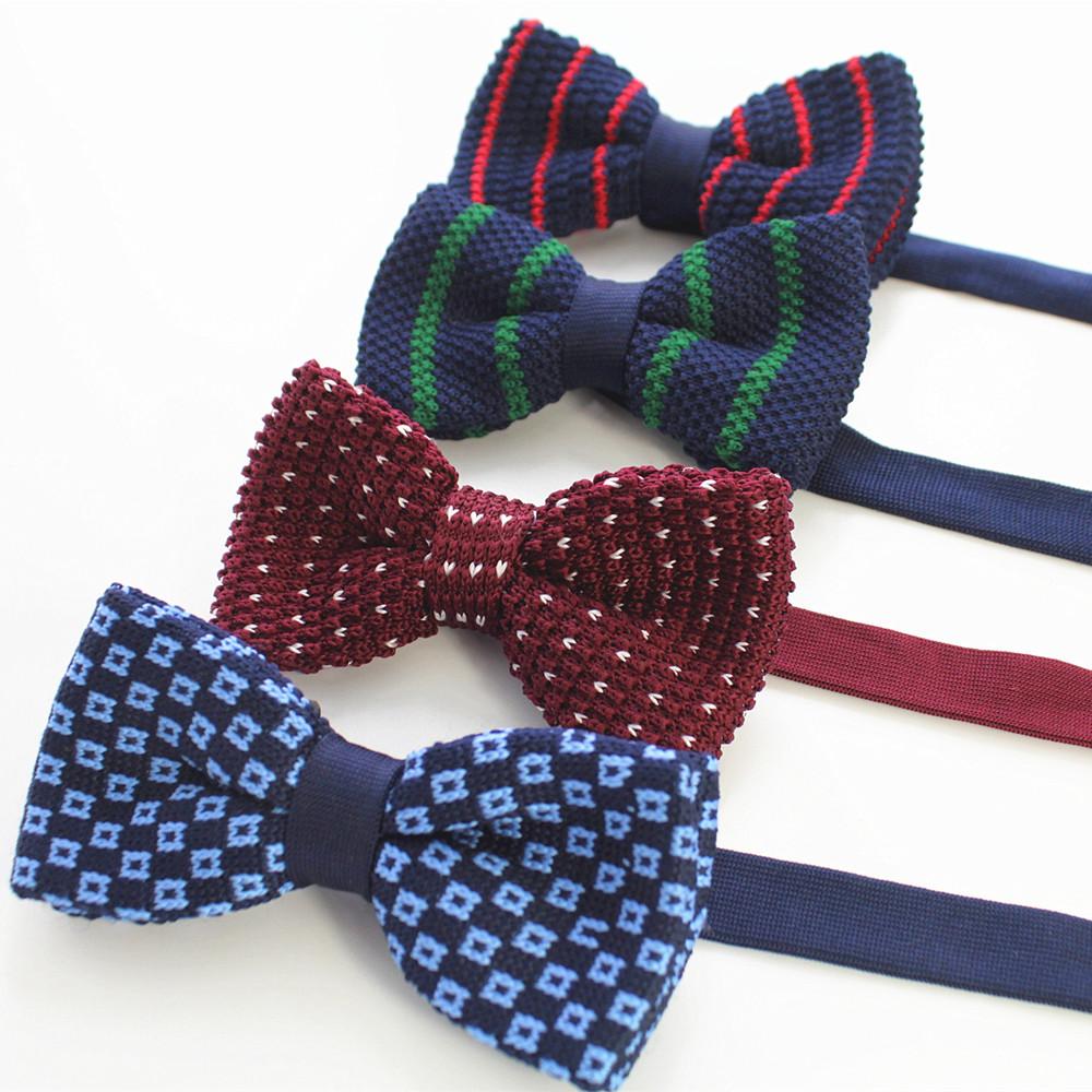 [해외]RBOCOTT 니트 나비 넥타이 남자 여자 스트라이프 보우 더블 데크 조절 패션 솔리드 나비 넥타이 웨딩 파티에 대한/RBOCOTT Knitted Bow ties Men Women Striped Bowtie Double-deck Adjustable Fashion