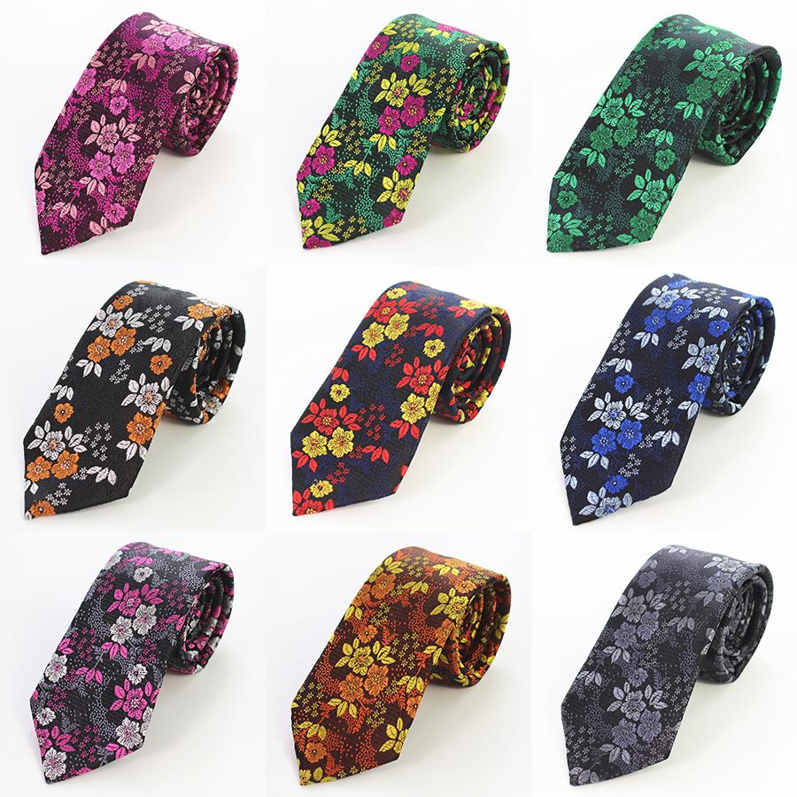 [해외]GUSLESON 2017 새로운 디자인 꽃 남자 넥타이 실크 품질 넥타이 웨딩 비즈니스를7cm 슬림 스키니 넥타이 Corbatas Hombre Gravatas/GUSLESON 2017 New Design Floral Men Tie Silk Quality Neck