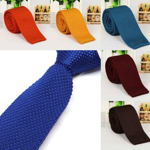 [해외]세련된 남성 솔리드 컬러 슬림 스키니 짠 니트 니트 넥타이 좁은 넥타이/Stylish Men Solid Color Slim Skinny Woven Knit Knitted Tie Narrow Necktie
