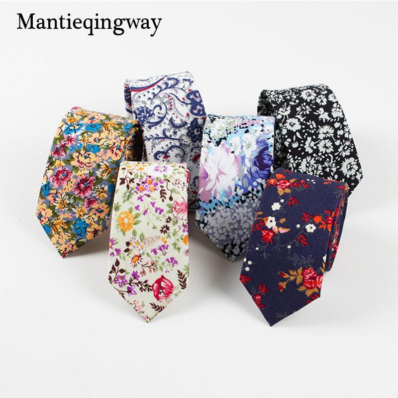 [해외]Mantieqingway 브랜드 슬림 비즈니스 남성 꽃 넥타이 브랜드 캐주얼 정장 정장 넥타이 웨딩 프린트 넥타이 코튼 넥타이/Mantieqingway Brand Slim Business Mens Floral Ties Brand Casual Formal Suit