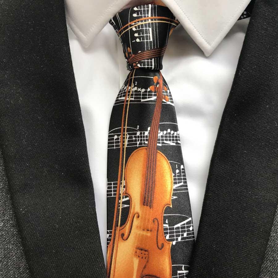 [해외]9cm 디자이너 Men 's s 넥타이 패션 뮤지컬 TiesCello Party Cencert의 Violoncello 패턴 타이 프린트/9cm Designer Men&s Printed Necktie Fashion Musical TiesCello Violo