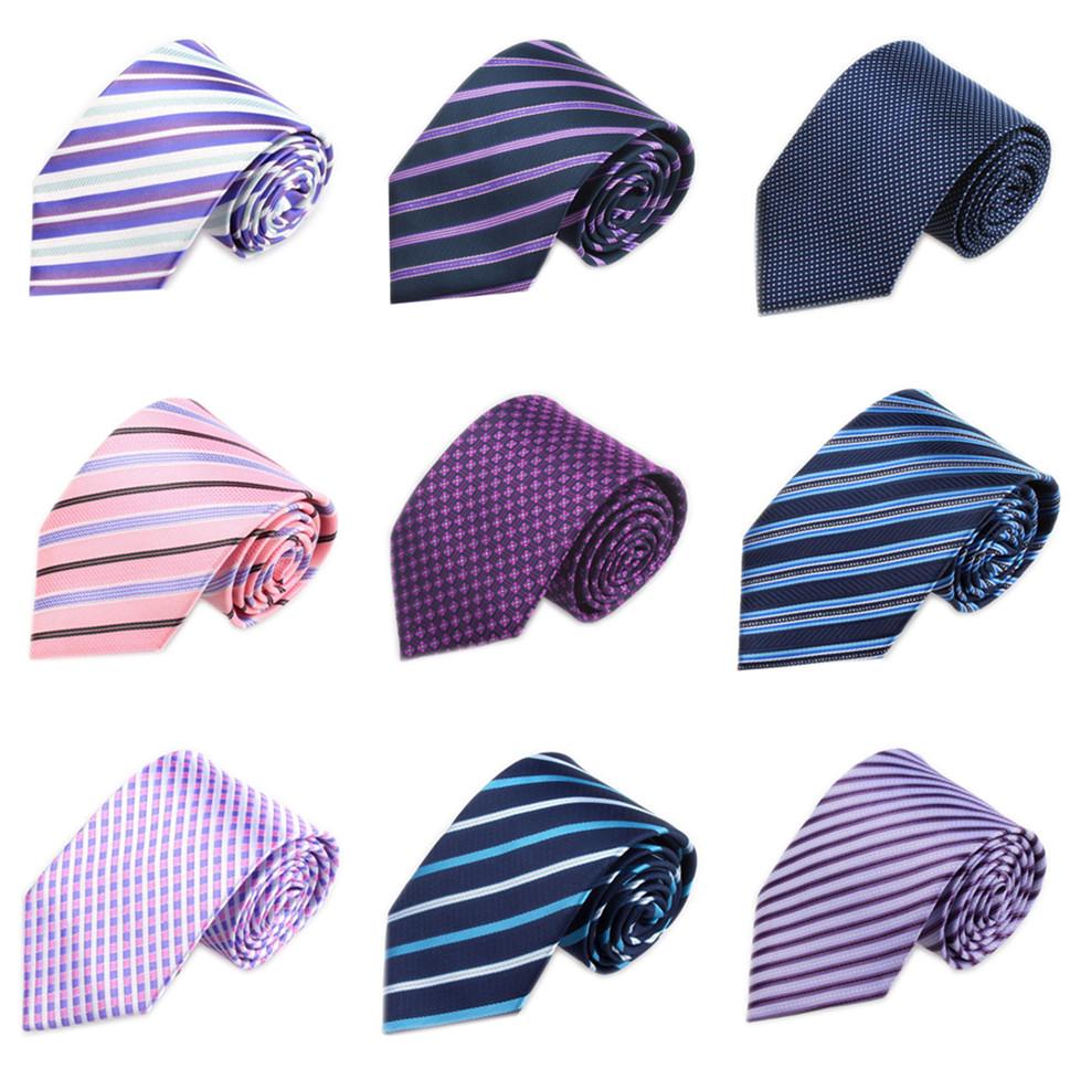 [해외]새로운 결혼식 넥타이 남자 보라색 비즈니스 Gravatas 슬림 레드 스트라이프 Corbatas 짠된 넥타이 격자 무늬 남자 & s 스위트 넥타이 남성 JT8CM/New Wedding Neckties For Men Purple Business Gravat