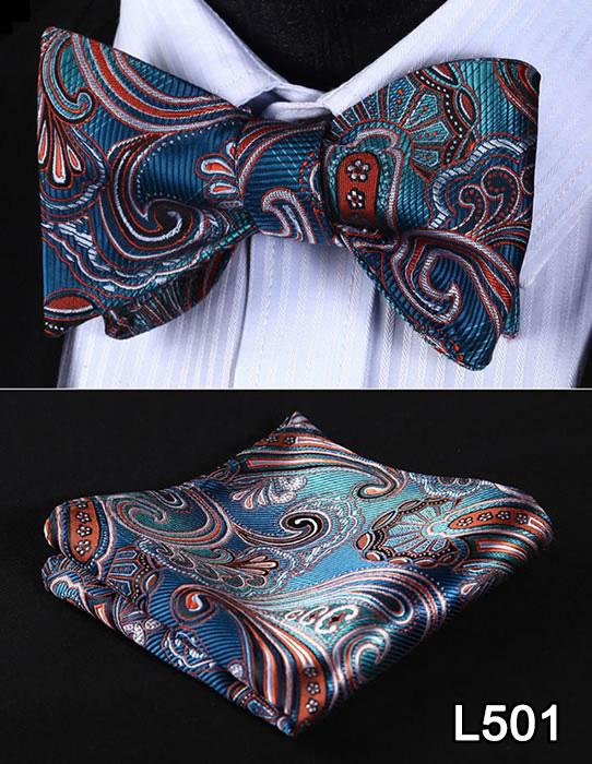 [해외]포켓 스퀘어 클래식 파티 결혼식 2016 새로운 디자인 페이즐리 남자 보우 타이 실크 결혼식 셀프 Bowtie 손수건 세트 L5/Pocket Square Classic Party Wedding 2016 New Design Paisley Men Bow Tie Si