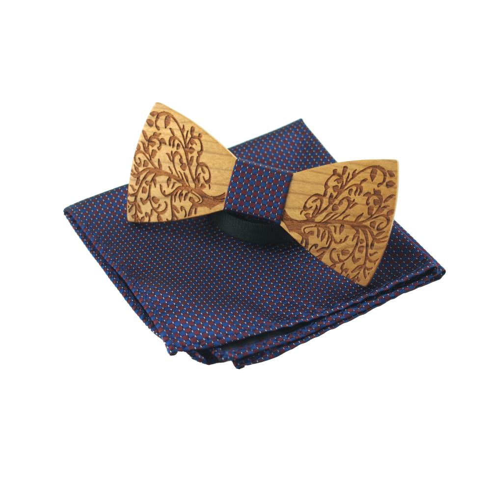 [해외]Mantieqingway 클래식 나무 bowties Neckwear 크리 에이 티브 수제 나무 나비 넥타이 격자 무늬 손수건 나무 보우 넥타이 남성 선물 세트/Mantieqingway Classic Wooden Bowties Neckwear Creative Ha