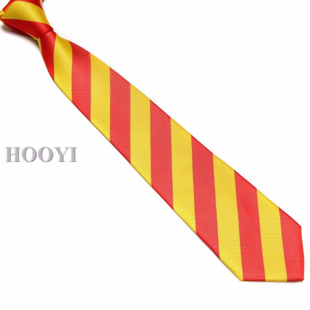 [해외]Hooyi 학생 스트라이프 넥 넥타이 폴리 에스테르 학교 넥타이 짧은 넥타이 gravata
