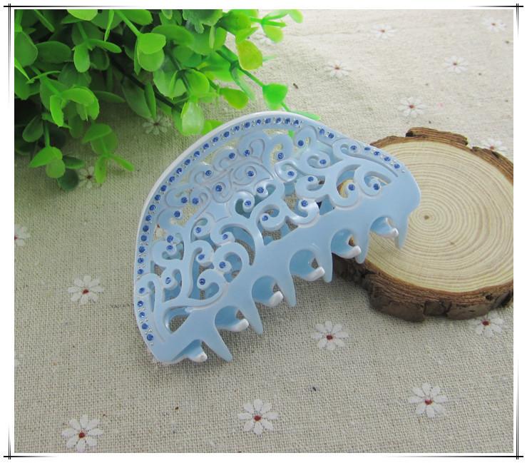 [해외]머리 보석 상점 패션 쥬얼리 아크릴 인쇄 꽃 흰 모조 다이아몬드 머리카락 헤어 액세서리/Hair Jewelry Store Fashion Jewelry Acrylic Printing Flowers White Rhinestone Hair Claws Hair Acce