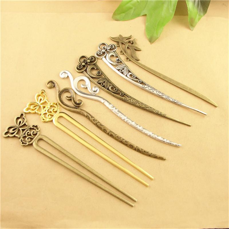 [해외]여자에 대 한 10pcs 빈티지 머리 스틱 금속 합금 Kanzashi 일본어 머리 스틱 YW0006/10Pcs Vintage Hair Stick Metal Alloy Kanzashi Japanese Hair Sticks for Women YW0006