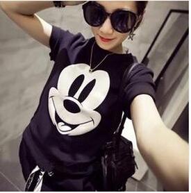 [해외]2016 여성 & S 여름 T 셔츠 미키 프린트 반팔 탑/2016 Women&s Summer T-Shirt Mickey Printed Short Sleeve Tops