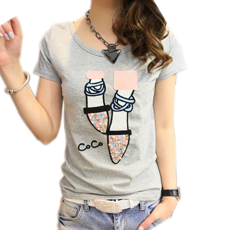 [해외]BOBOKATEER 티셔츠 여성 티셔츠 코튼 탑 티 셔츠 여성용 카와이이 티셔츠 여성 티셔츠 여름 티셔츠 camisetas mujer verano 2017/BOBOKATEER T shirt women t-shirt cotton top tee shirt femme