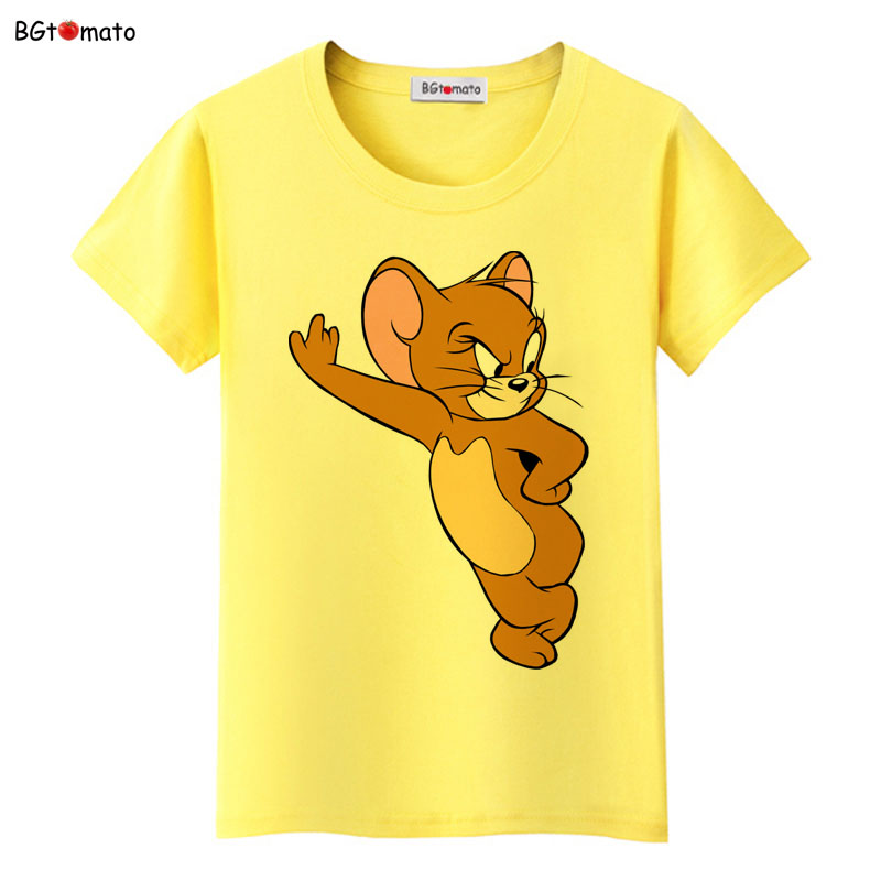 [해외]BGtomato t shirt 영화 스타 Jerry 마우스 kawaii t shirt 여름 사랑스러운 귀여운 t- 셔츠 여성 파격 할인 새로운 brand tshirt/BGtomato t shirt Movie star Jerry mouse kawaii t shir