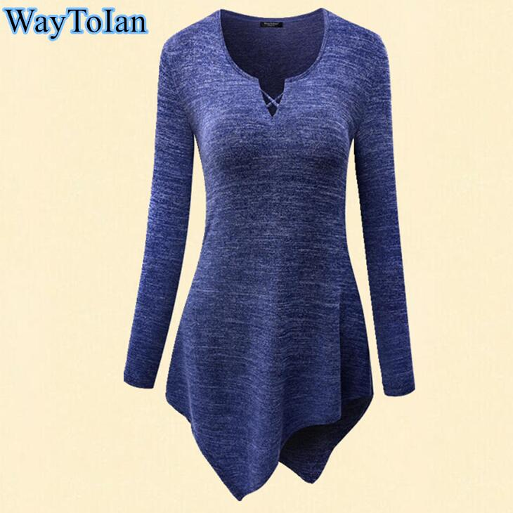 [해외]WayToIan 여름 티셔츠 여성 프린트 티셔츠 긴 Retail 티셔츠 롱 튜닉 탑 불규칙한 밑단 티셔츠 루즈 탑/WayToIan Summer t-shirt Women Print t shirt long Sleeve O-Neck Tie-Dye Long Tunic