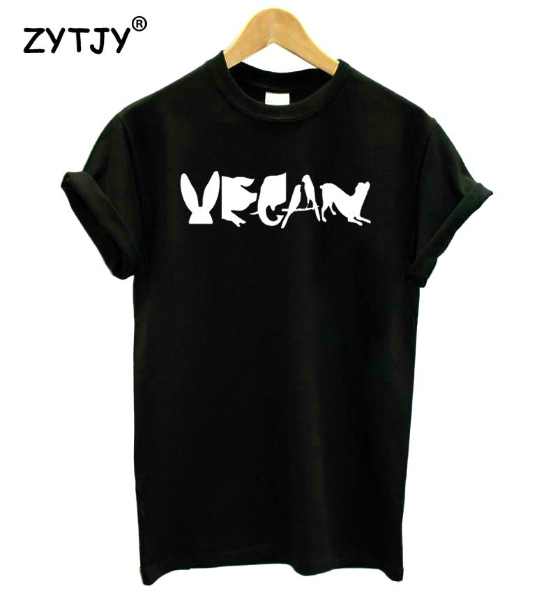 [해외]채식주의 자 철자가있는 여성 인쇄 tshirt 코튼 캐주얼 재밌는 t 셔츠 레이디 걸스 탑 티 hipster tumblr z - 1165/Vegan SpelledAnimals Print Women tshirt Cotton Casual Funny t shirt F