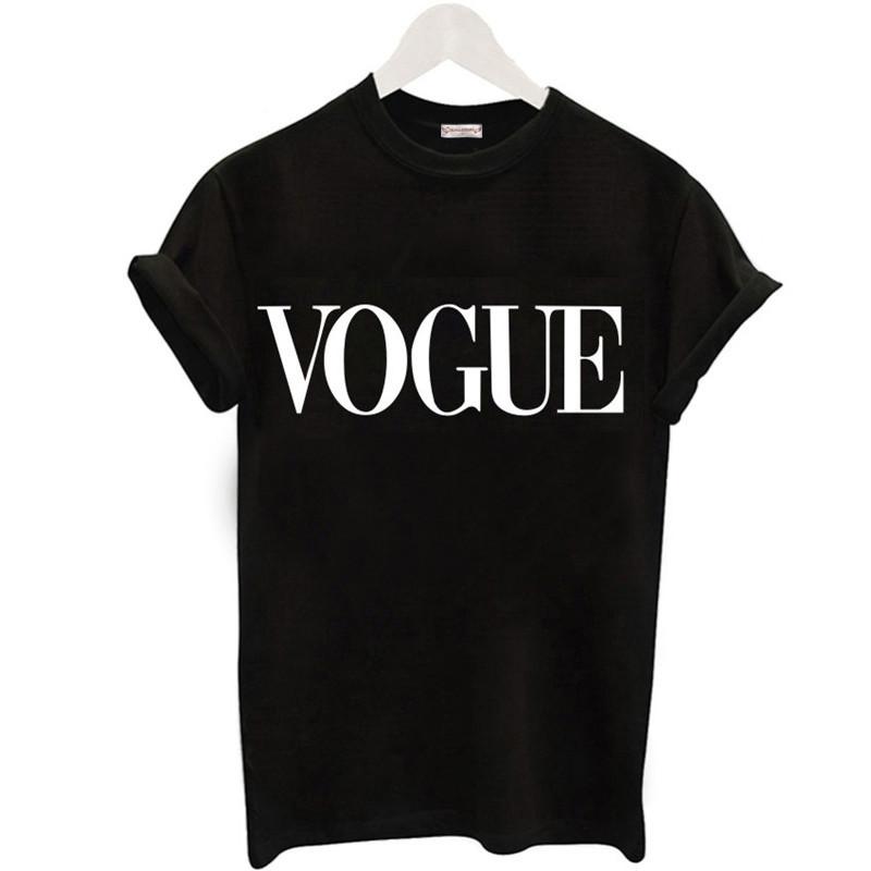 [해외]?플러스 사이즈 S-XL 하라주쿠 하마 T 셔츠 여성 New 도착 패션 VOGUE 프린트 T 셔츠 여성 T 셔츠 탑 캐주얼 T 셔츠/ Plus Size S-XL Harajuku Summer T Shirt Women New Arrivals Fashion VOGUE