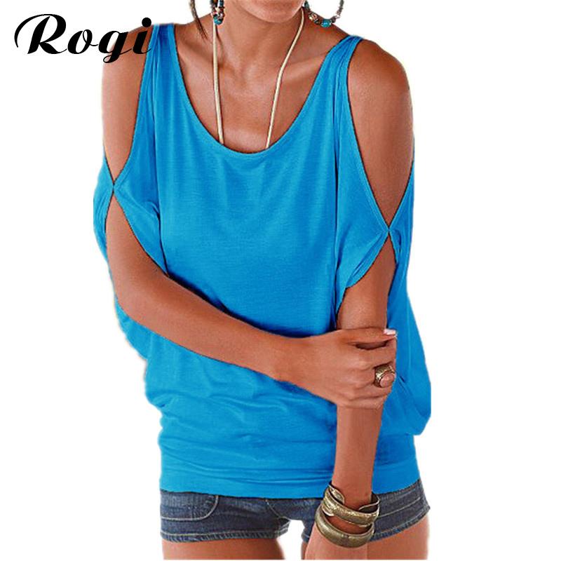 [해외]여성을어깨 탑에서 로지 T 셔츠 여성 2017 패션 프라 이아 반Retail 러시아 점퍼 Top Poleras Para Mujer Moda/Rogi Off the Shoulder Tops for Women T Shirt Female 2017 Fashion Pra